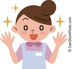 Young women rejoice - Vector illustration.