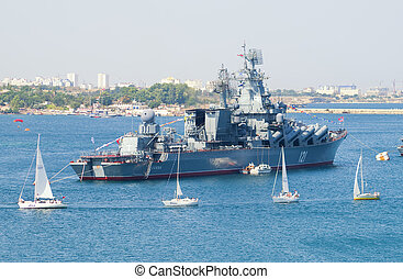 Day military marine sea fleet of Russia on July, 27th, 2014