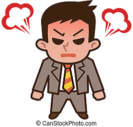 Businessman angry - Vector illustration
