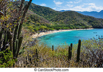 Crystal Beach at Tayrona National Park, Colombia.