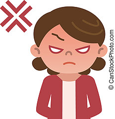 Angry Housewife  - Vector illustration.