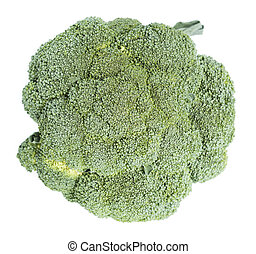 Raw Broccoli over white - Raw Broccoli isolated on pure...
