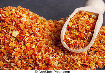 dried, dehydrated carrots, can be used as background