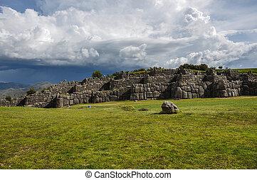 Saqsaywaman Incas ruins near Cusco, Peru.