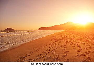 sunsetsunrise on the beach