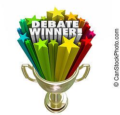 Debate Winner Gold Trophy Prize Best Argument Skill - Debate...