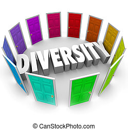 Diversity 3d Word Many Choices Ethnic Racial Backgrounds...