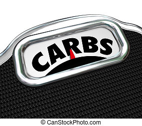 Carbs Word Scale Diet Losing Weight Eating Less...