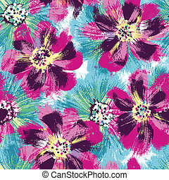 Seamless repeat flower - Seamless repeat tropical flower