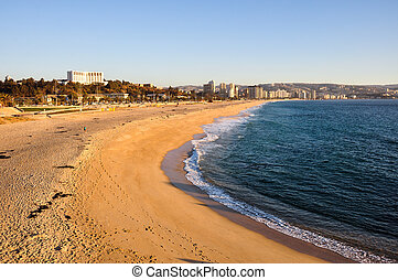 Beach at Vina del Mar, Chile.