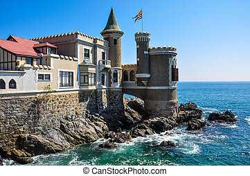 Wulff Castle in Vina del Mar, Chile.