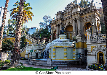 Cerro Santa Lucia in Downtown Santiago, Chile