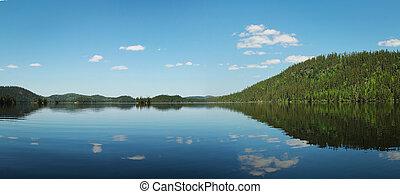 Calm lake in Canada