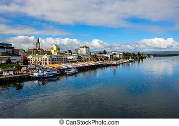 Valdivia by the river, Chile.