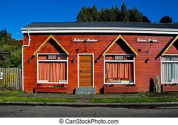 Traditional house German Style in Frutillar, Chile.