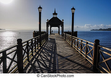 Dock of Frutillar, in Chile.