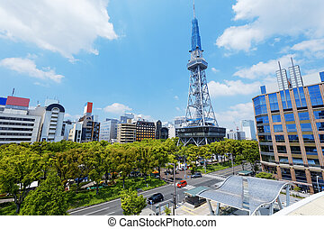 Japan Nagoya - Nagoya, Japan city skyline with Nagoya Tower