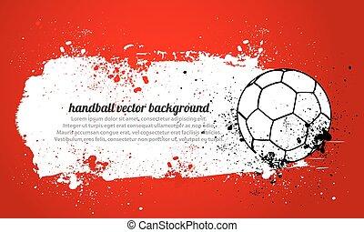 Grunge Handball Vector