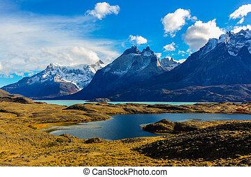 Parque, Nacional, torres, Paine, chile