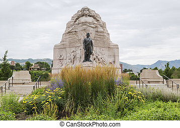 Mormon Battalion Monument in Salt L - Monument to the Mormon...