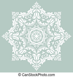 Orient vector ornamental round lace
