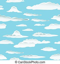 seamless cloud background - Seamless fluffy cloudy...