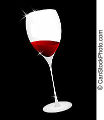 wine glass - Vector illustration of wine glass for design...
