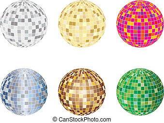 disco spheres - Set of disco sphere equipment in...