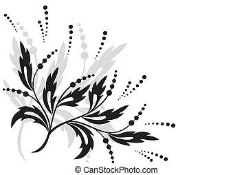 black floral element for design
