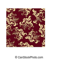 seamless floral background - Floral seamless background for...