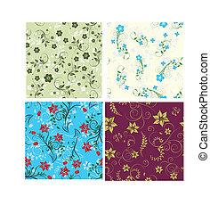 floral seamless set - Floral seamless background for yours...