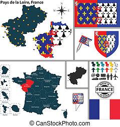 Map of Pays de la Loire, France
