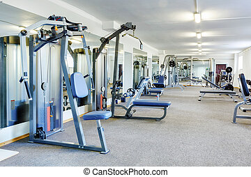 Gym interior. - Fitness club interior.