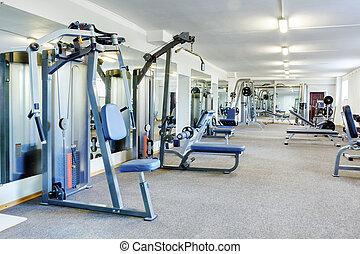 Gym interior. - Fitness club interior.