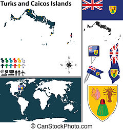 Map of Turks and Caicos Islands - Vector map of Turks and...