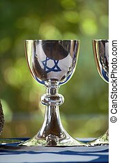 chalice - A chalice with the flag of Israel
