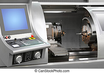 Machining centre combination machinery in work shop