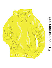 yellow hoody isolated on a white background