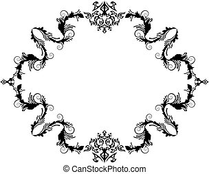vintage frame - Abstract floral vector frame background in...