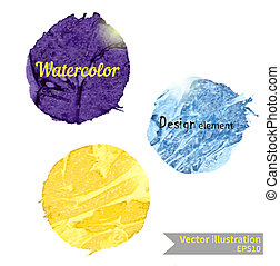 Watercolor design element for the realization of your best...