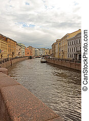 St. Petersburg - Embankment of the River Mojka. St....