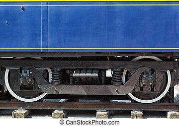 Train bogie - Old train bogie detail