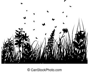 meadows plant  silhouette