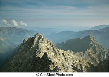 View from the top of Rysy in Tatras - View from the top of...