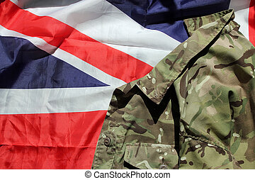 UK military and Union flag