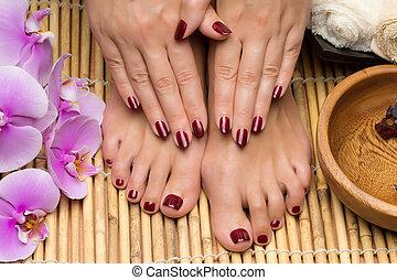 pedicure, manicure, salão