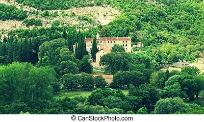 Krka Monastery - Krka Orthodox Monastery in a canyon...