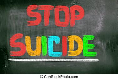 止まれ, 自殺, 概念