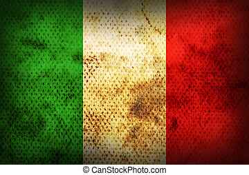 Weathered flag of Italy - Flag of Italy. Weathered burned...