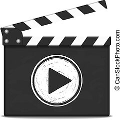 Clapper Board with Play Button